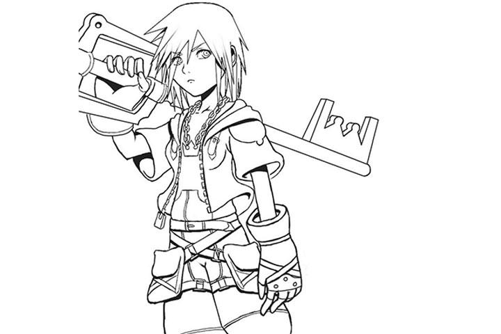 Kingdom Hearts coloring #4, Download drawings