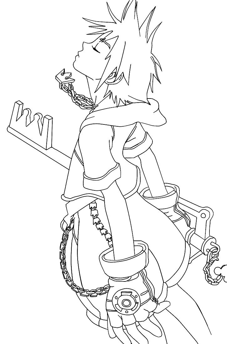 Kingdom Hearts coloring #17, Download drawings