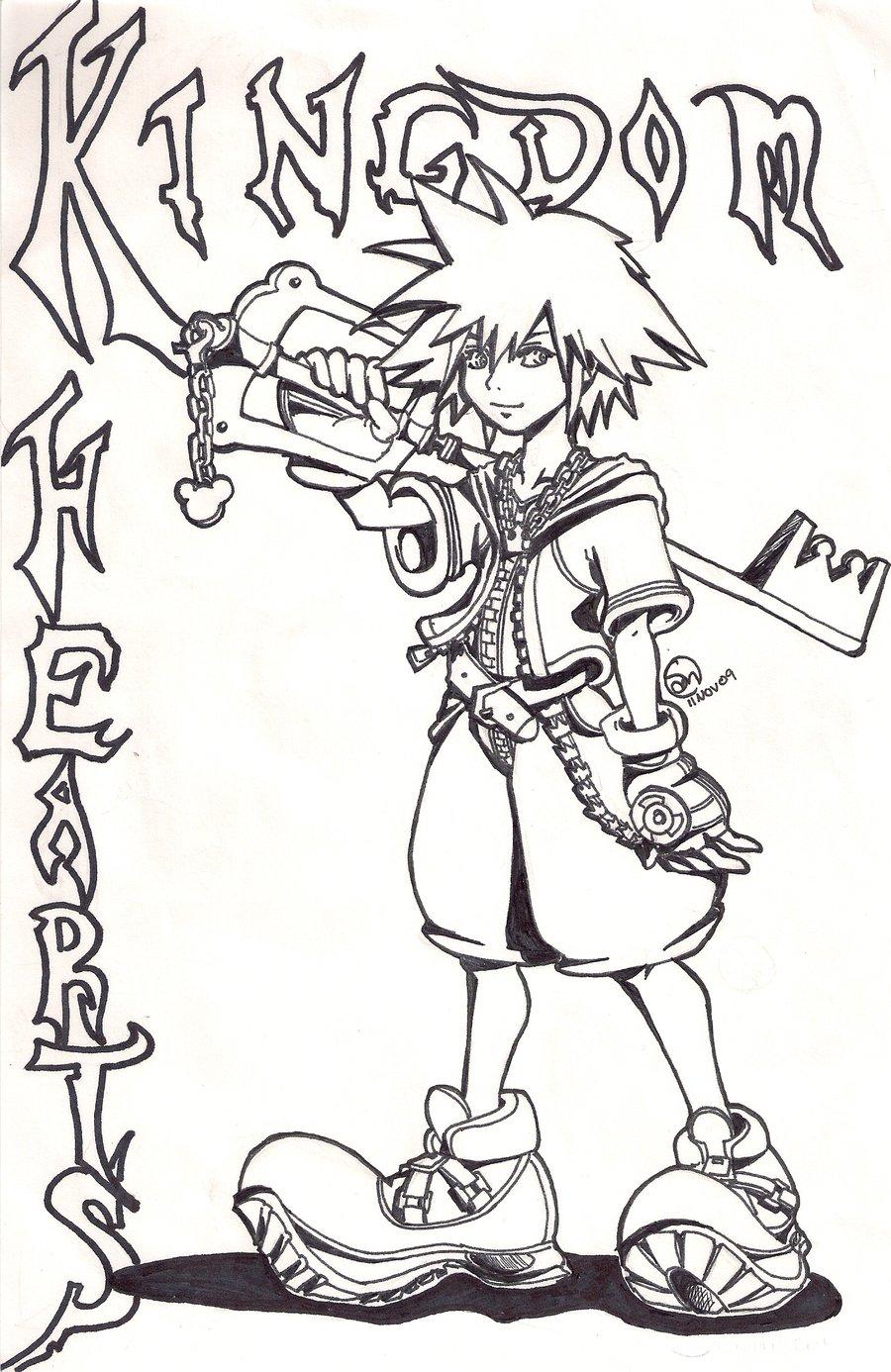 Kingdom Hearts coloring #13, Download drawings