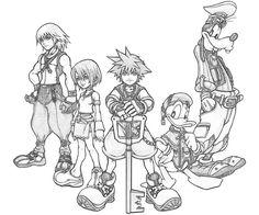 Kingdom Hearts coloring #16, Download drawings