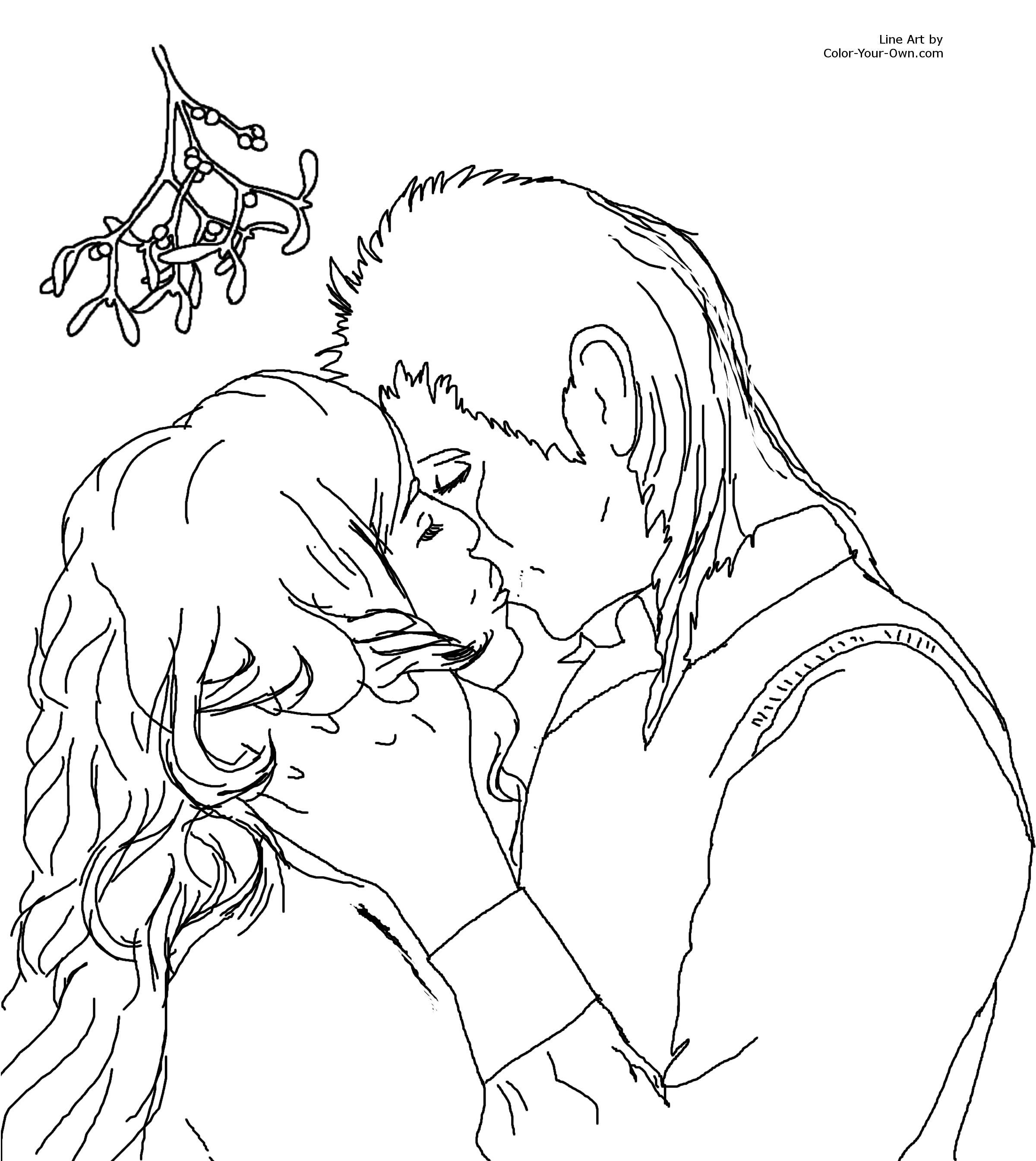 Kissing coloring #17, Download drawings