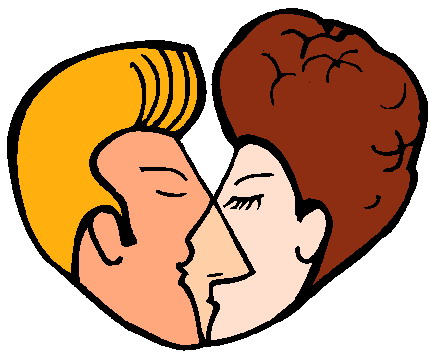 Kissing clipart #1, Download drawings