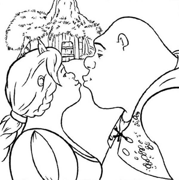 Kissing coloring #6, Download drawings