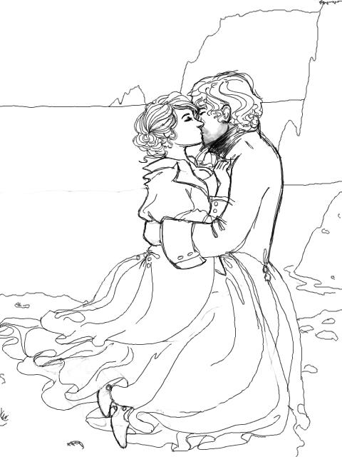 Kissing coloring #10, Download drawings