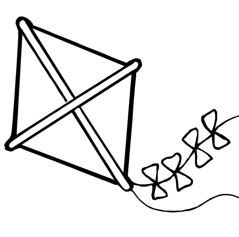 Kite coloring #20, Download drawings