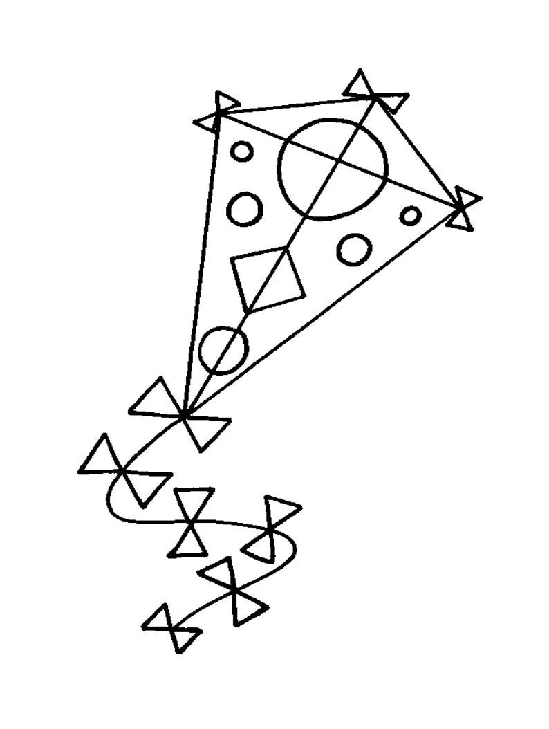 Kite coloring #1, Download drawings