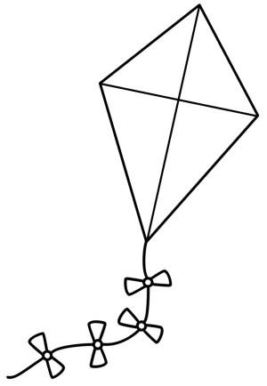 Kite coloring #9, Download drawings