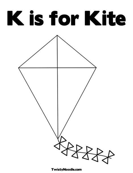 Kite coloring #2, Download drawings