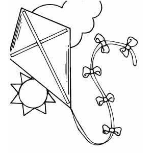 Kite coloring #5, Download drawings
