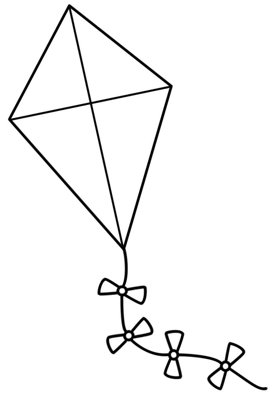 Kite coloring #17, Download drawings