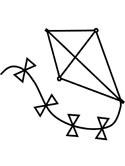Kite coloring #6, Download drawings