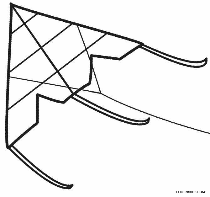 Kite coloring #4, Download drawings