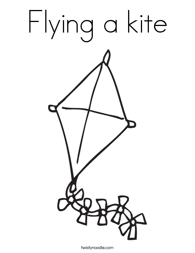 Kite coloring #3, Download drawings