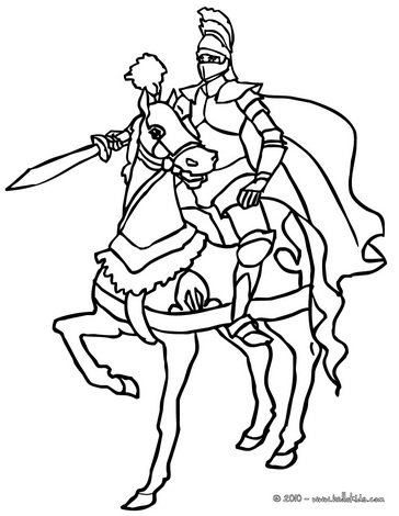Knight coloring #14, Download drawings