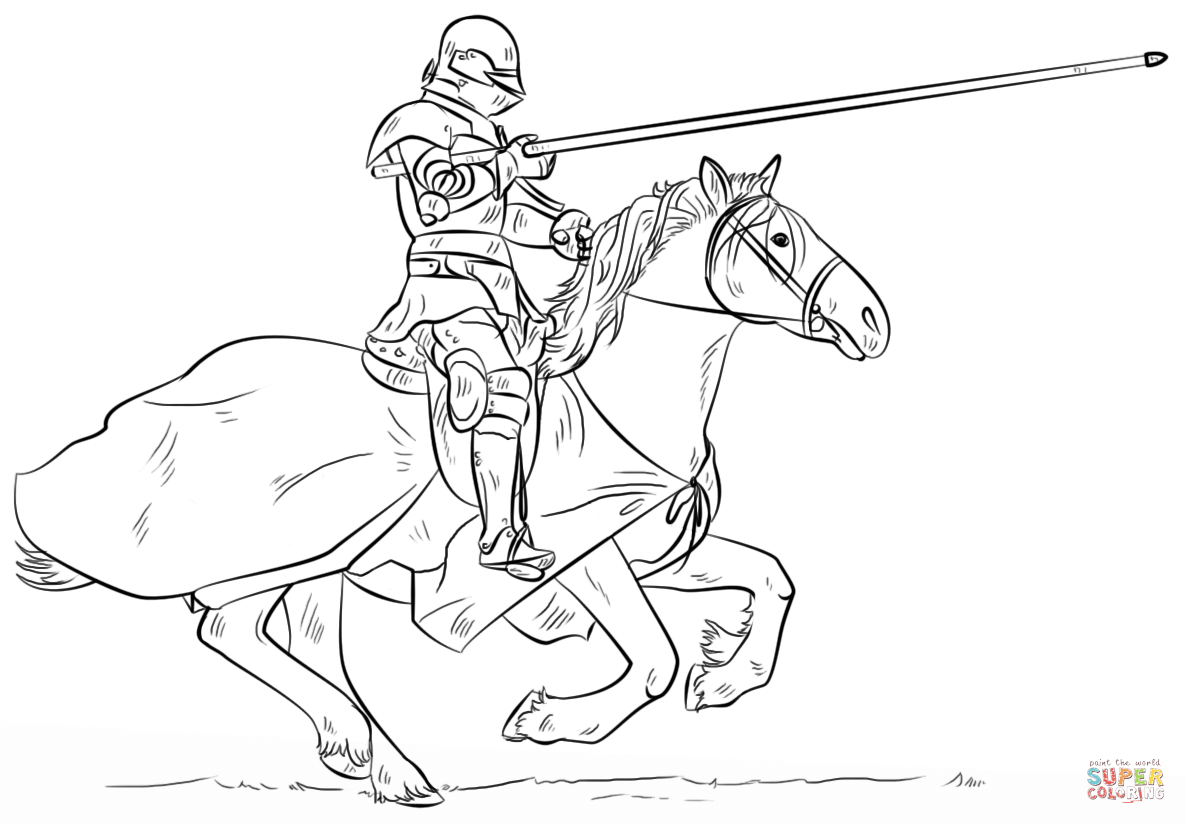 Knight coloring #12, Download drawings