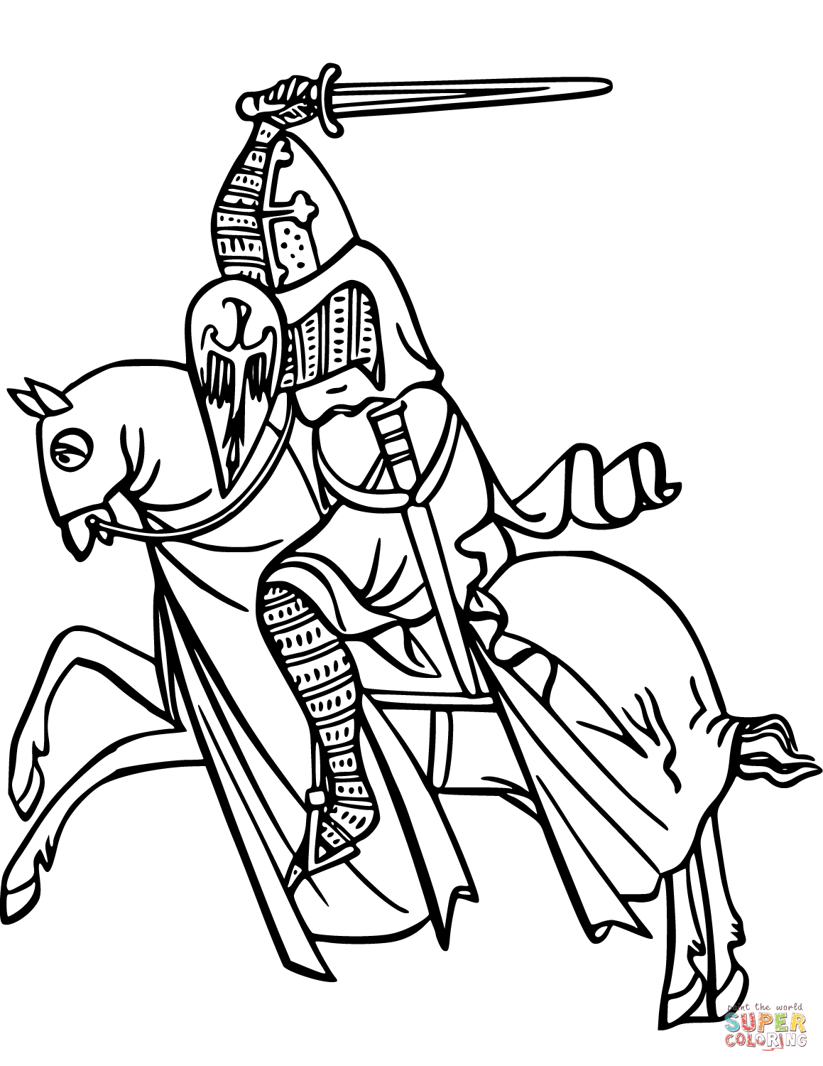 Knight coloring #18, Download drawings