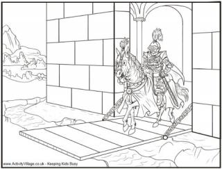 Knight coloring #19, Download drawings