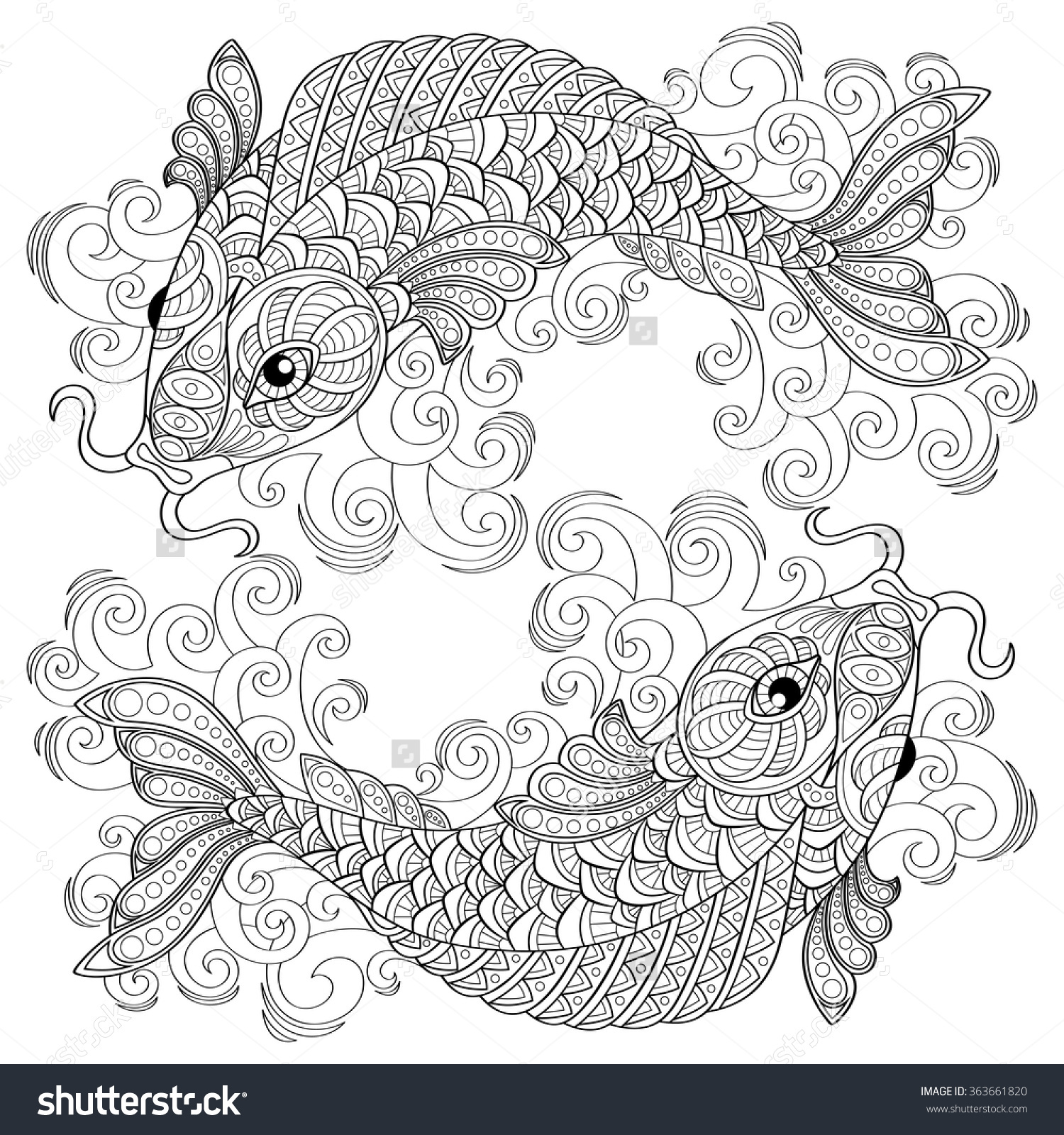 Pisces coloring #8, Download drawings
