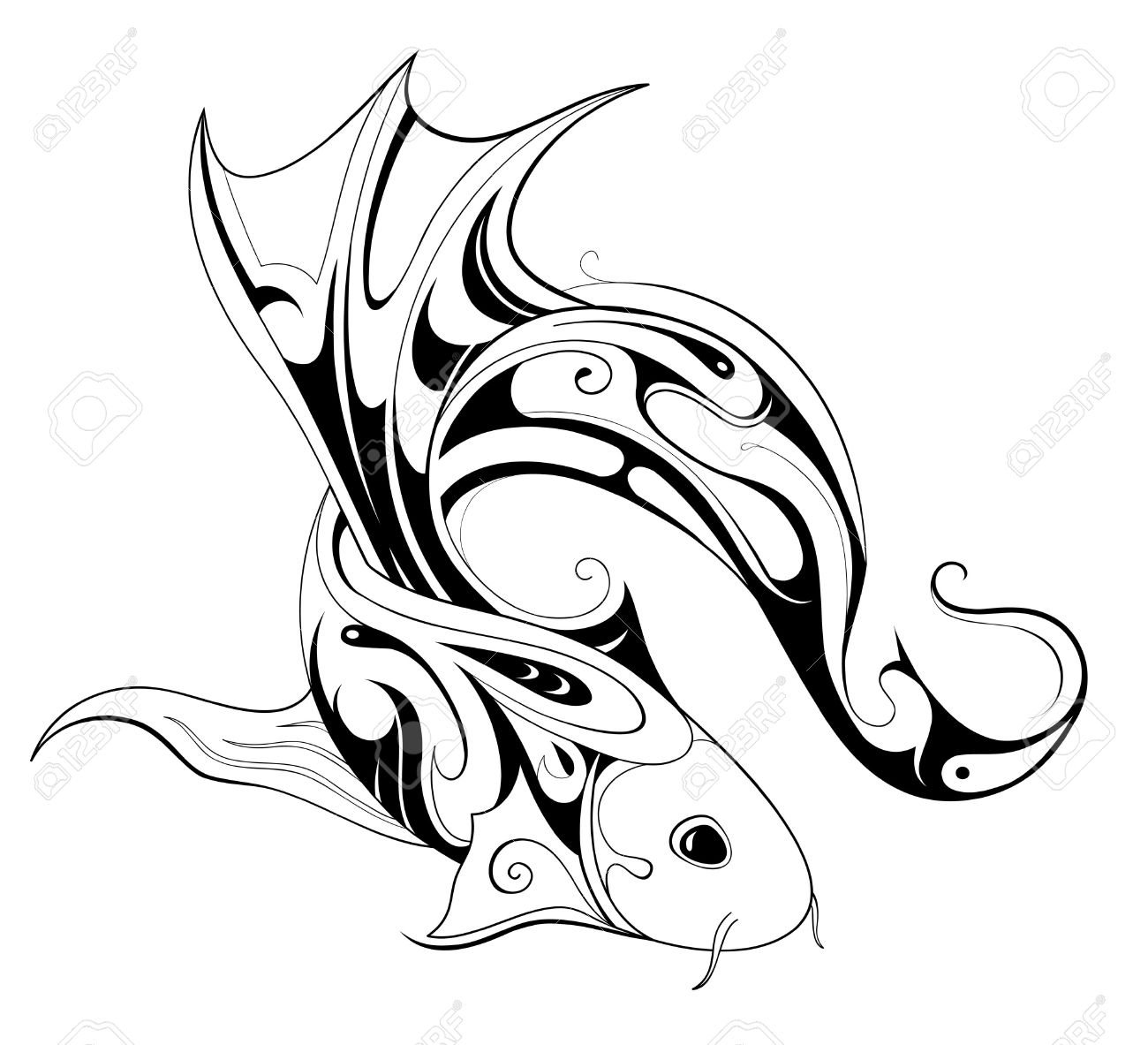 Koi clipart #11, Download drawings