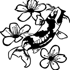 Koi Fish svg #2, Download drawings