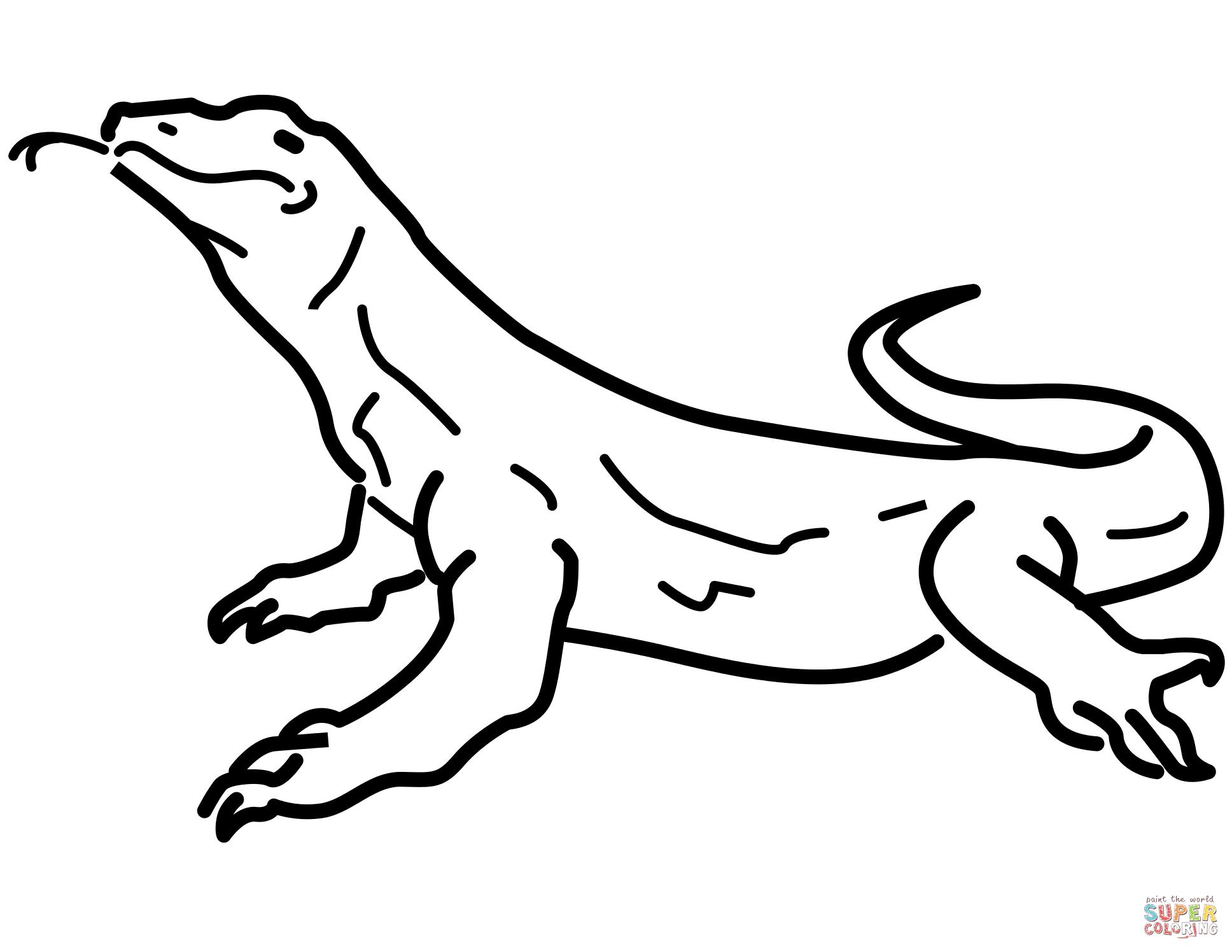 Monitor Lizard coloring, Download Monitor Lizard coloring ...