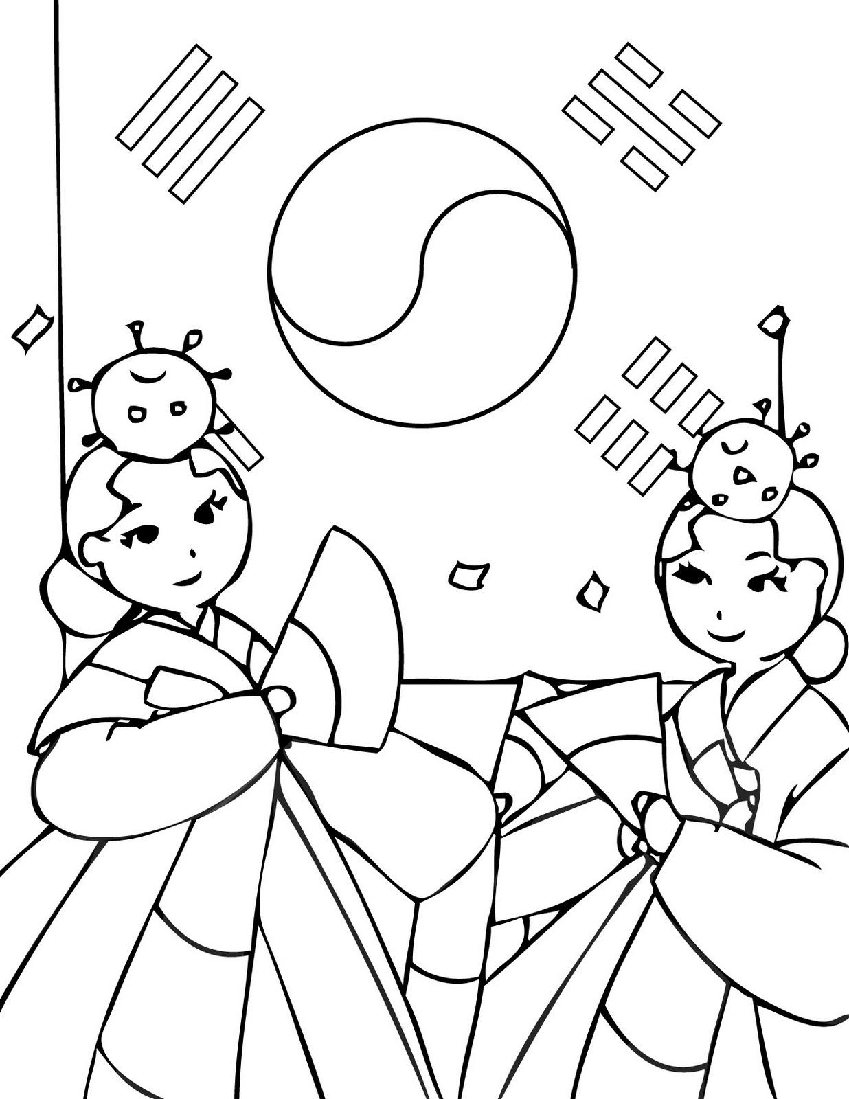 Korean coloring #18, Download drawings