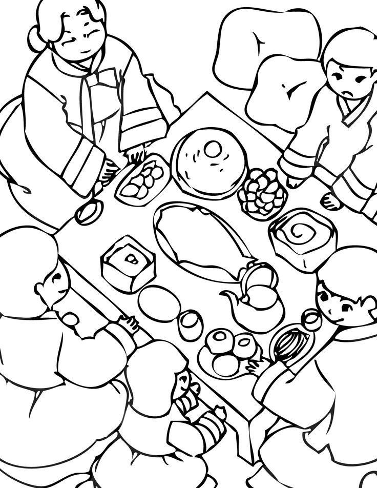 Korean coloring #14, Download drawings