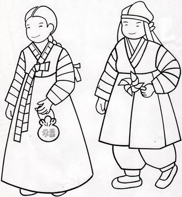 Korean coloring #11, Download drawings