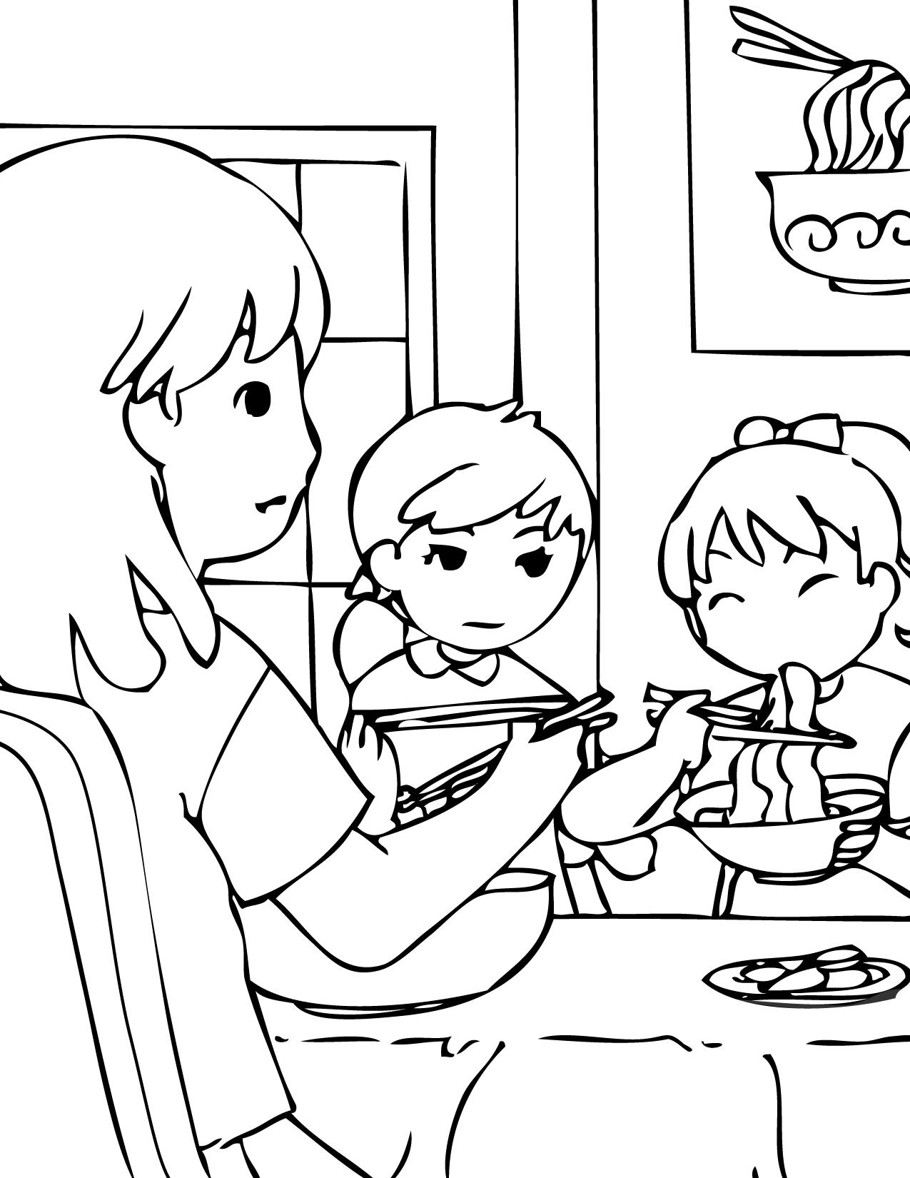 Korean coloring #1, Download drawings