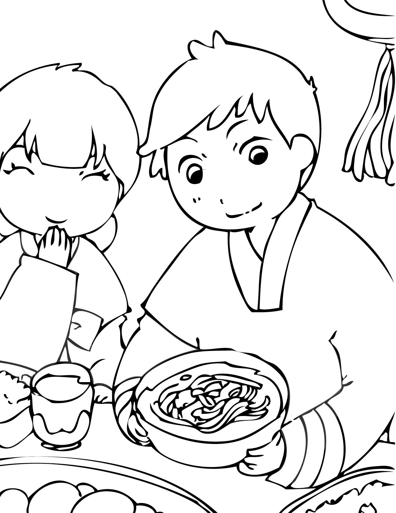 Korean coloring #5, Download drawings