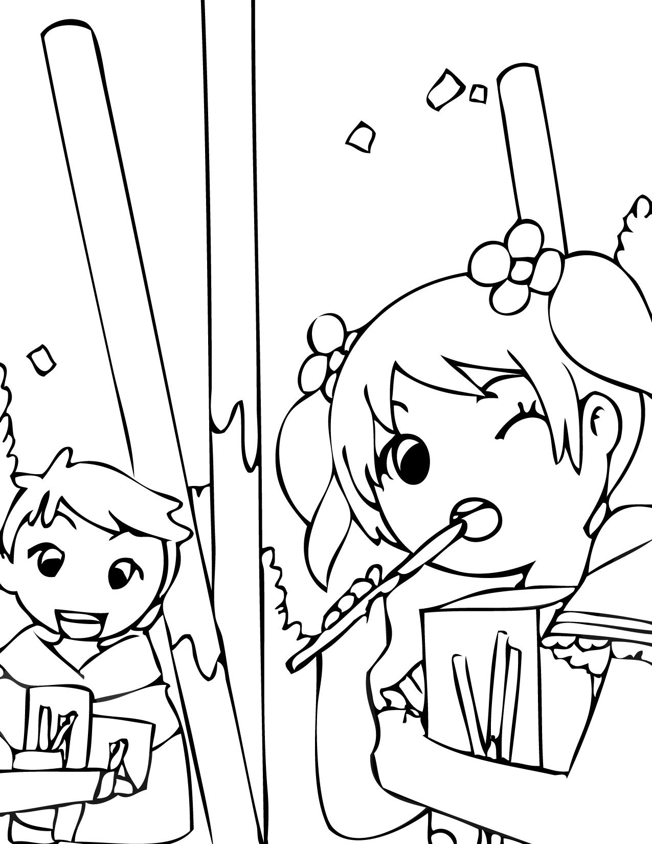 Korean coloring #6, Download drawings