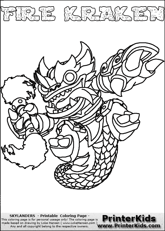 Kraken coloring #14, Download drawings