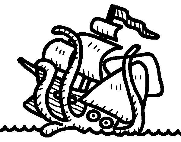 Kraken coloring #2, Download drawings