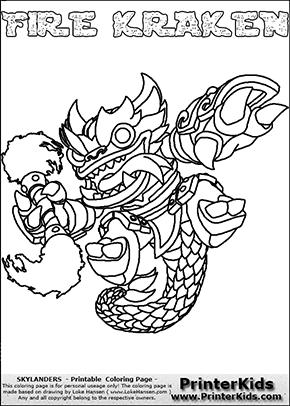 Kraken coloring #9, Download drawings