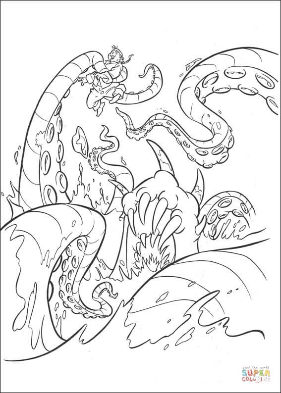 Kraken coloring #16, Download drawings