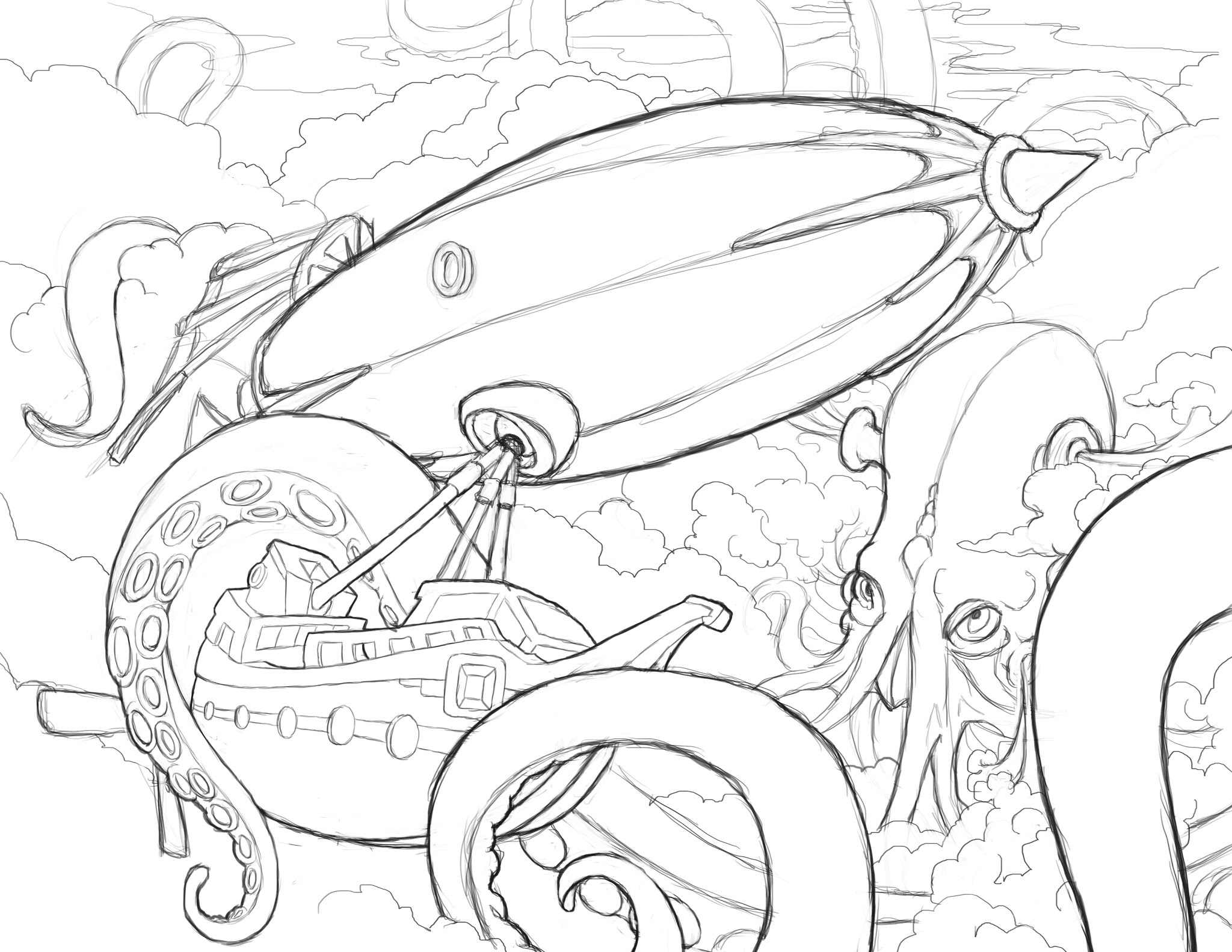Kraken coloring #10, Download drawings