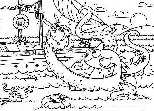 Sea Monster coloring #3, Download drawings