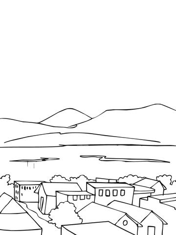 Krajobraz coloring #15, Download drawings