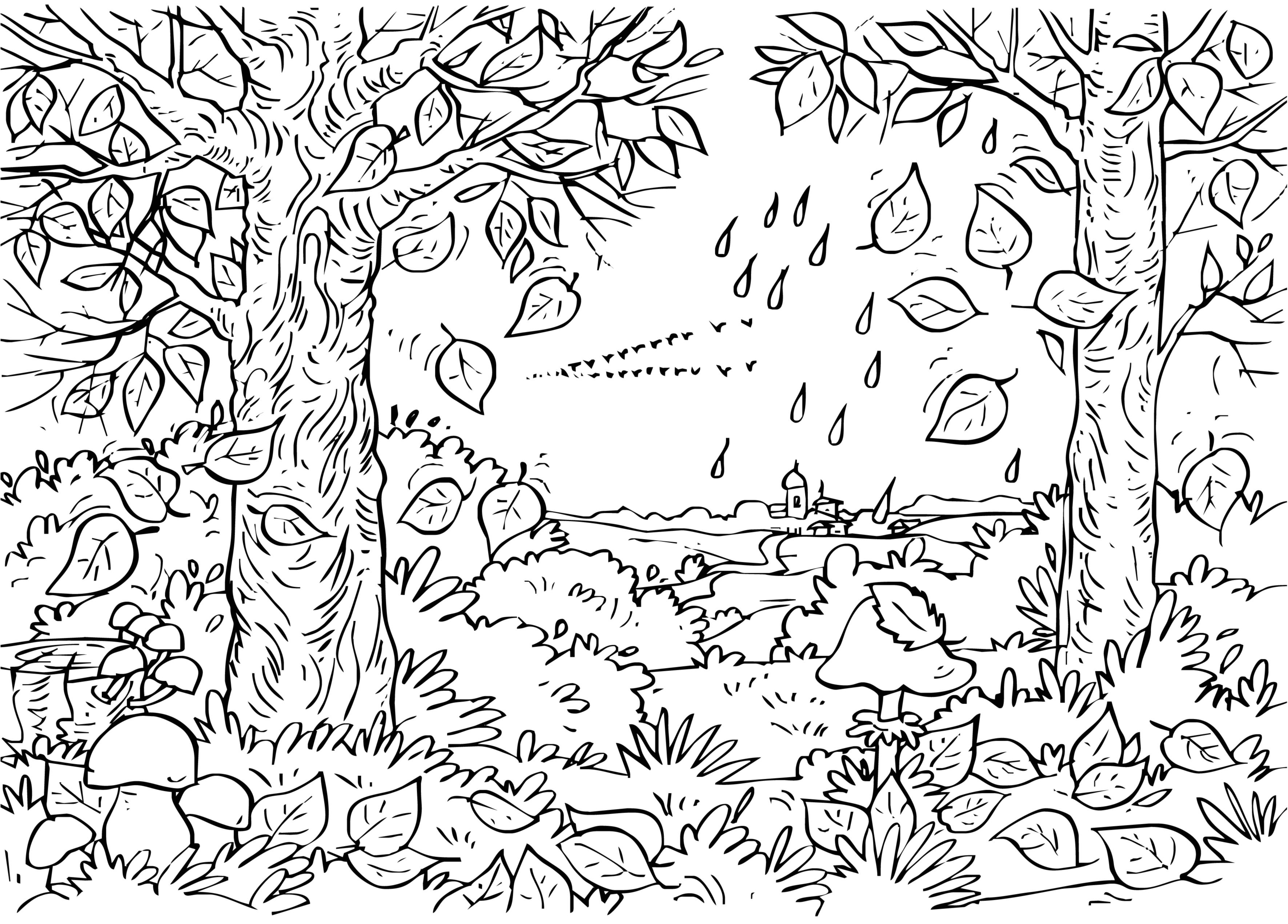 Krajobraz coloring #1, Download drawings