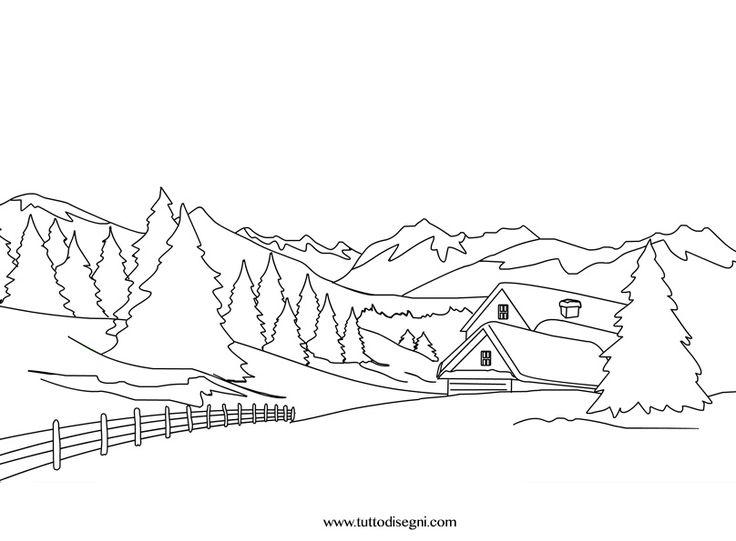 Krajobraz coloring #5, Download drawings