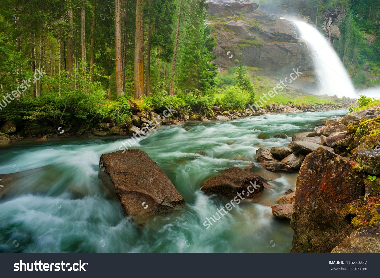Krimml Waterfalls clipart #1, Download drawings