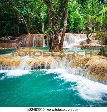 Kuang Si Waterfall clipart #7, Download drawings