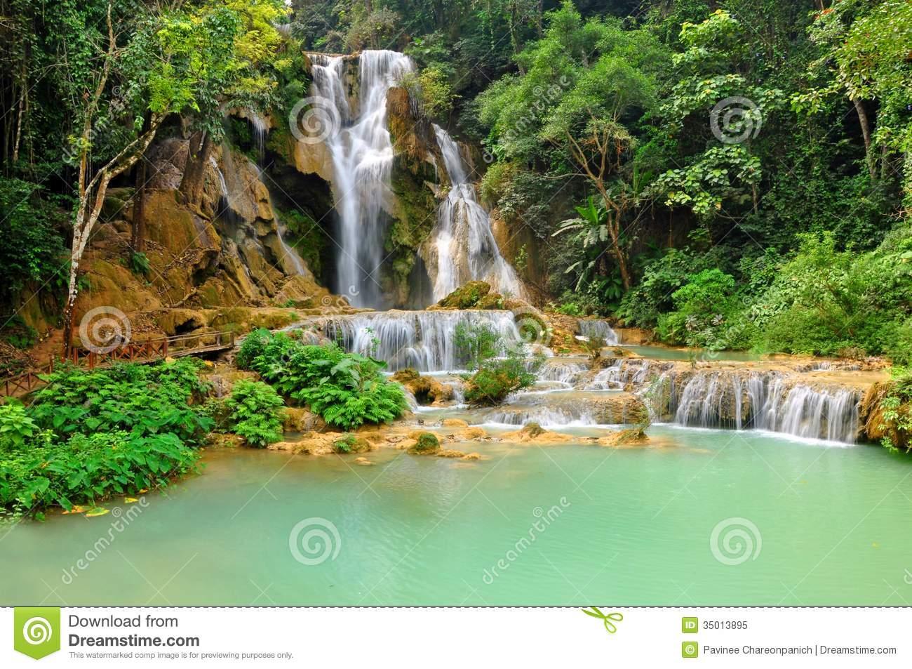 Kuang Si Waterfall clipart #14, Download drawings