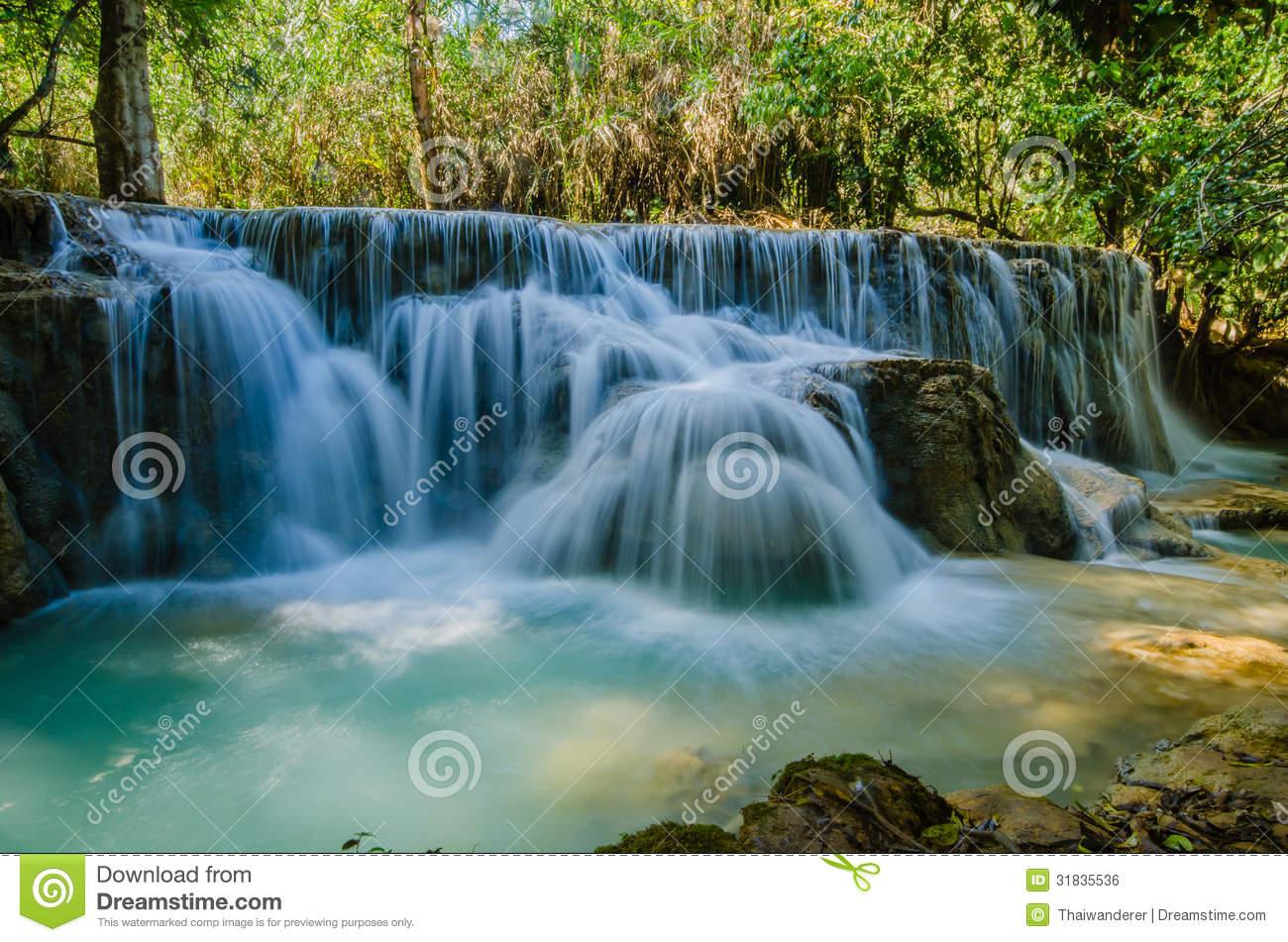 Kuang Si Waterfall clipart #10, Download drawings