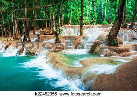 Kuang Si Waterfall clipart #19, Download drawings