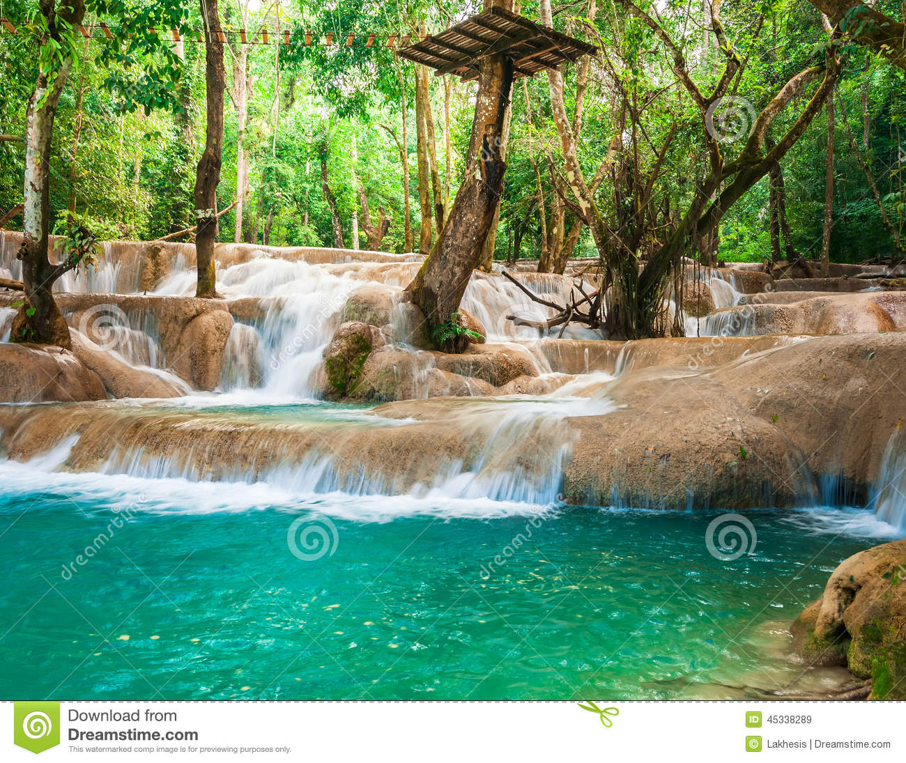 Kuang Si Waterfall clipart #2, Download drawings