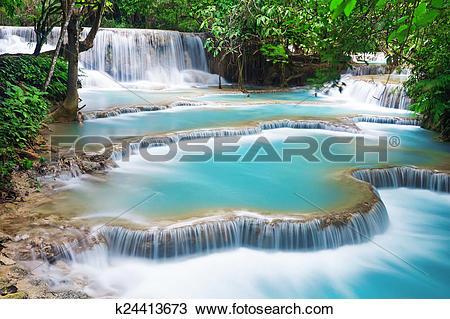 Kuang Si Waterfall clipart #18, Download drawings