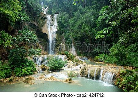 Kuang Si Waterfall clipart #12, Download drawings