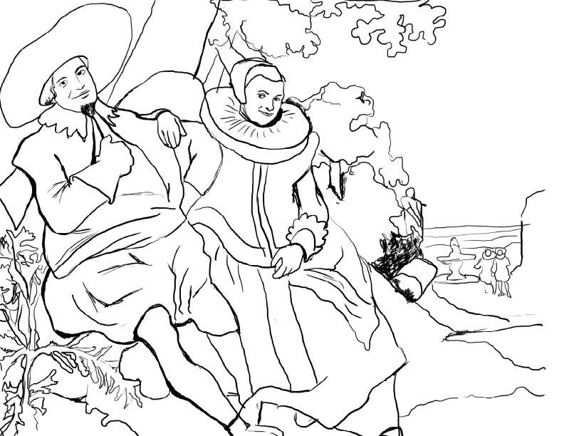 Kunst coloring #16, Download drawings