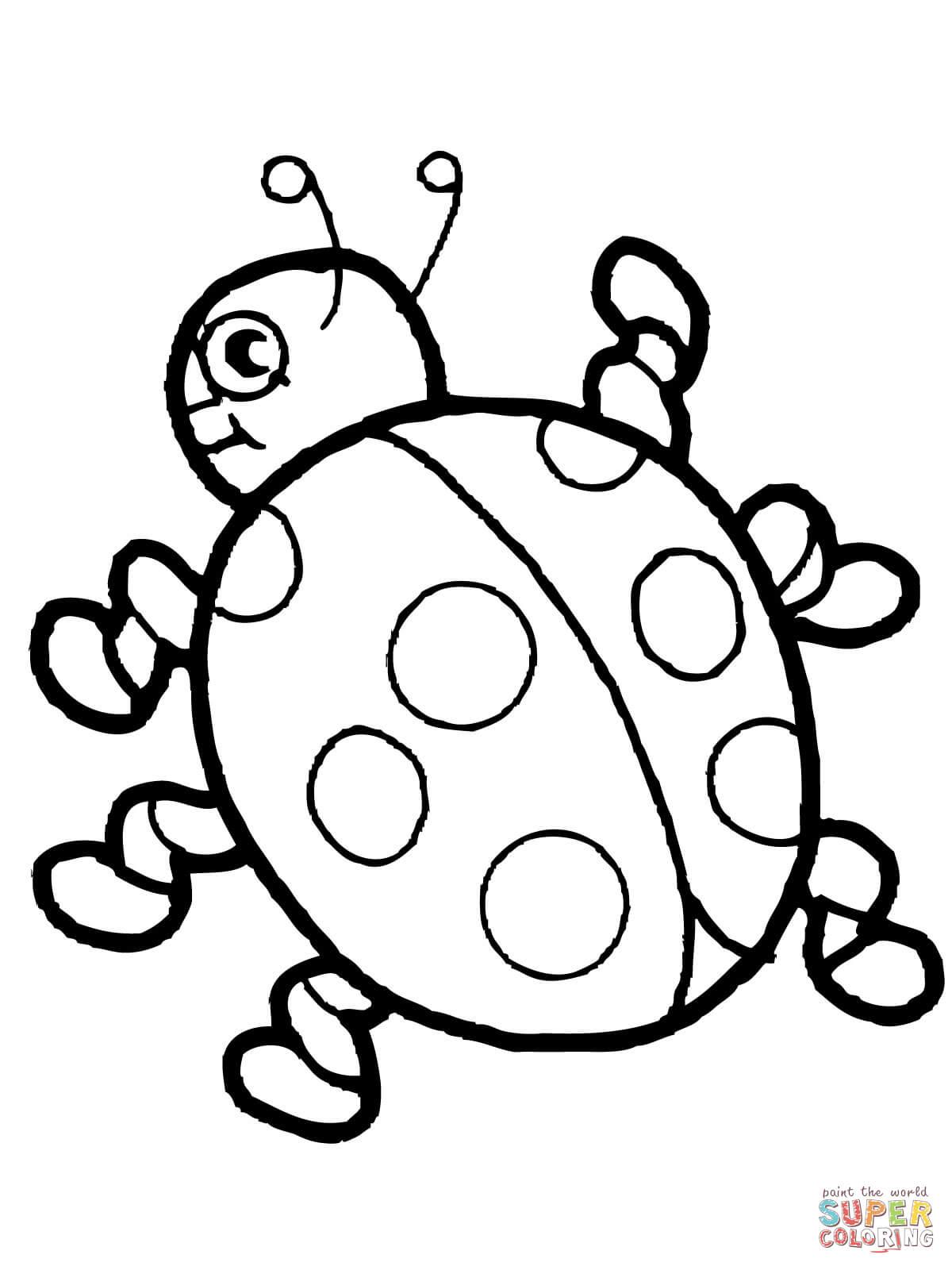 Ladybug coloring #14, Download drawings